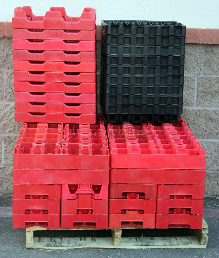 Lege Plastic Dozen stock afbeelding