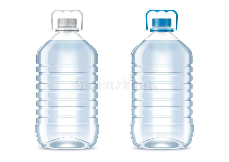 Lege plastic flessen royalty-vrije illustratie