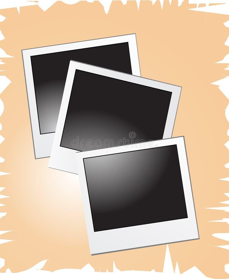 Lege polaroidsvector illustr royalty-vrije stock fotografie