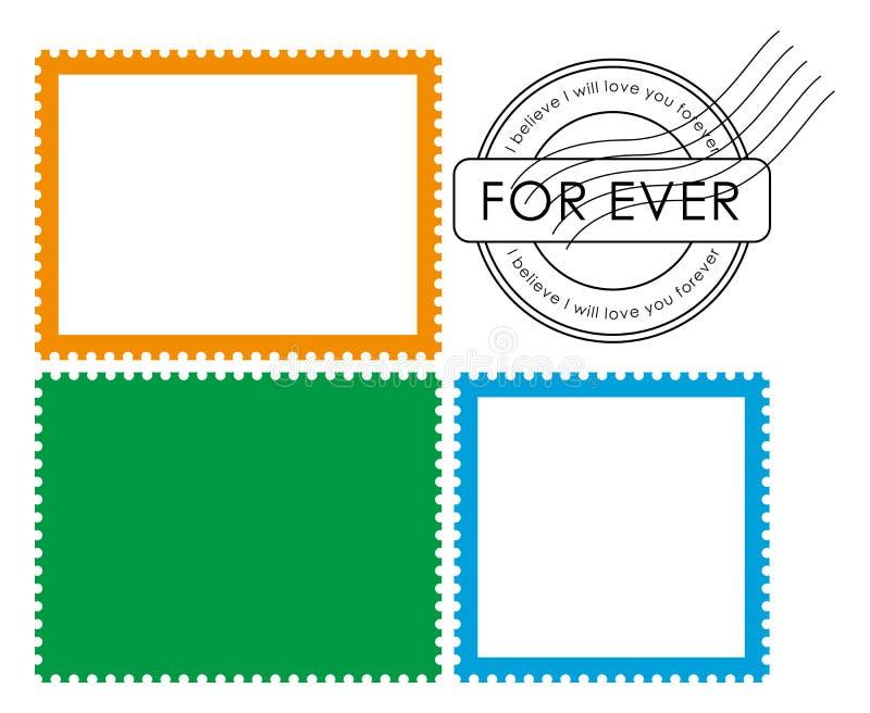 Lege postzegel (vector) vector illustratie