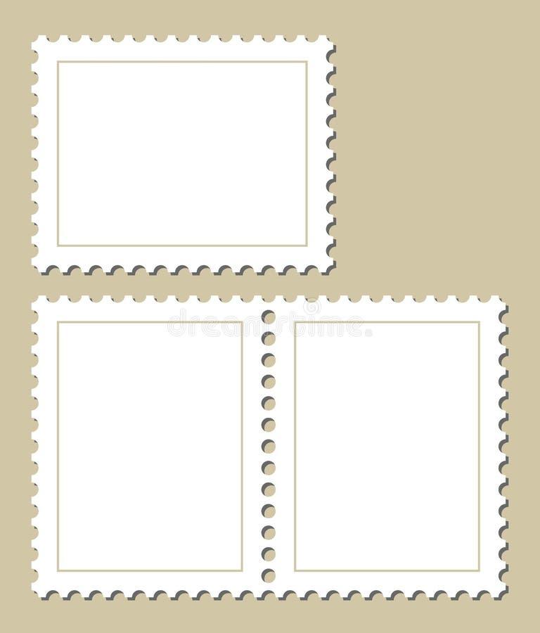 Lege postzegels royalty-vrije illustratie