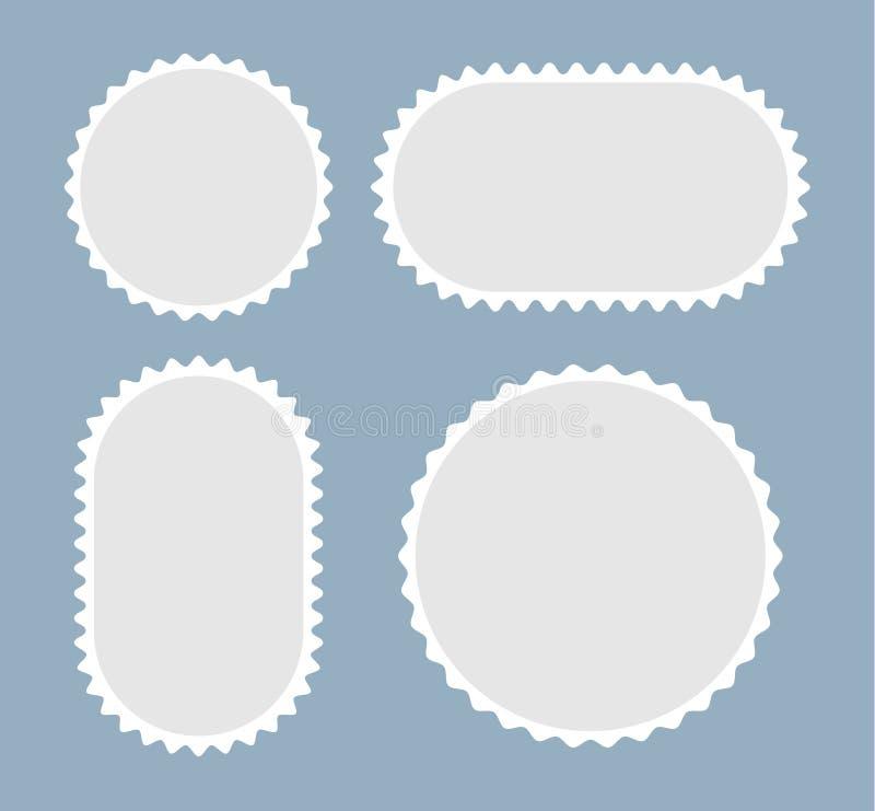 Lege postzegels Zegelspaties Vector illustratie stock illustratie