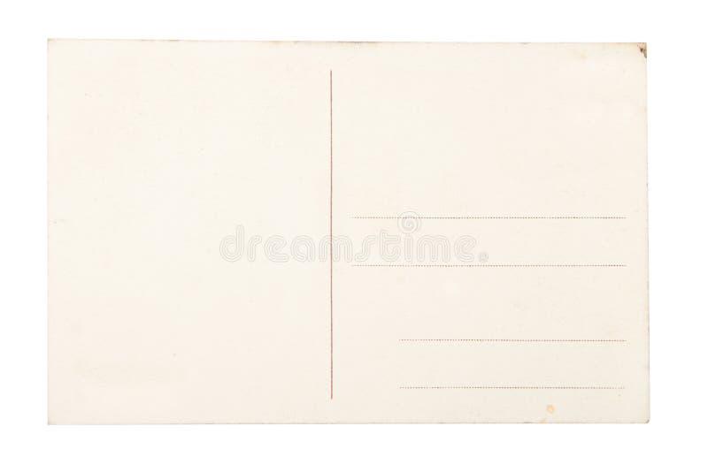 Lege prentbriefkaar over witte achtergrond. royalty-vrije stock foto