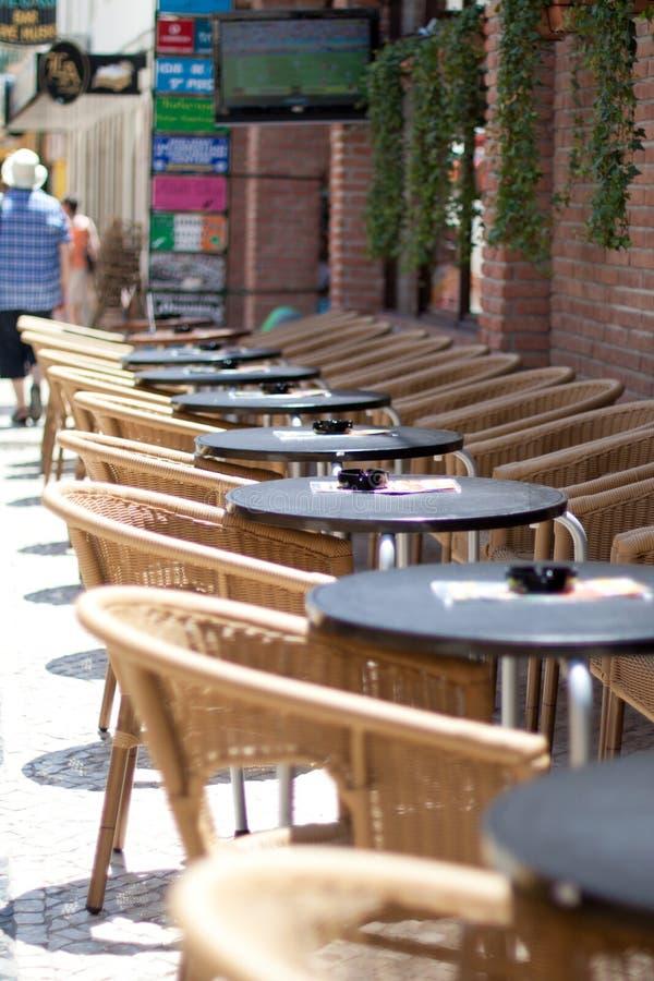 Lege restaurants royalty-vrije stock foto