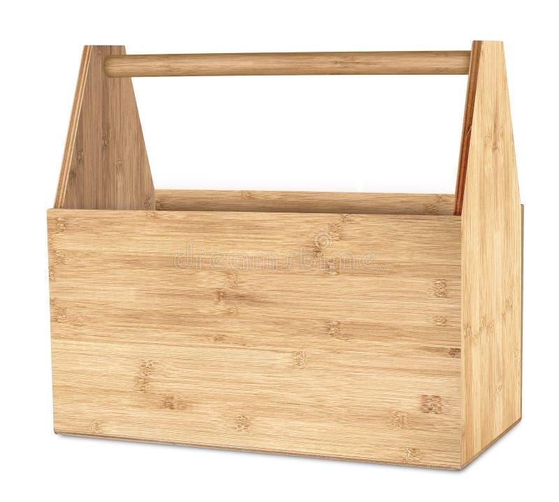 Lege retro houten hulpmiddeldoos stock fotografie