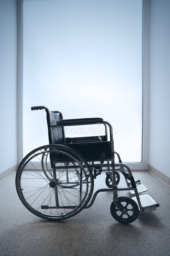 Lege rolstoel royalty-vrije stock afbeelding