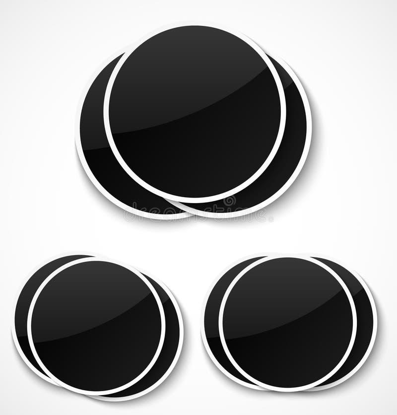 Lege ronde fotokaders stock illustratie