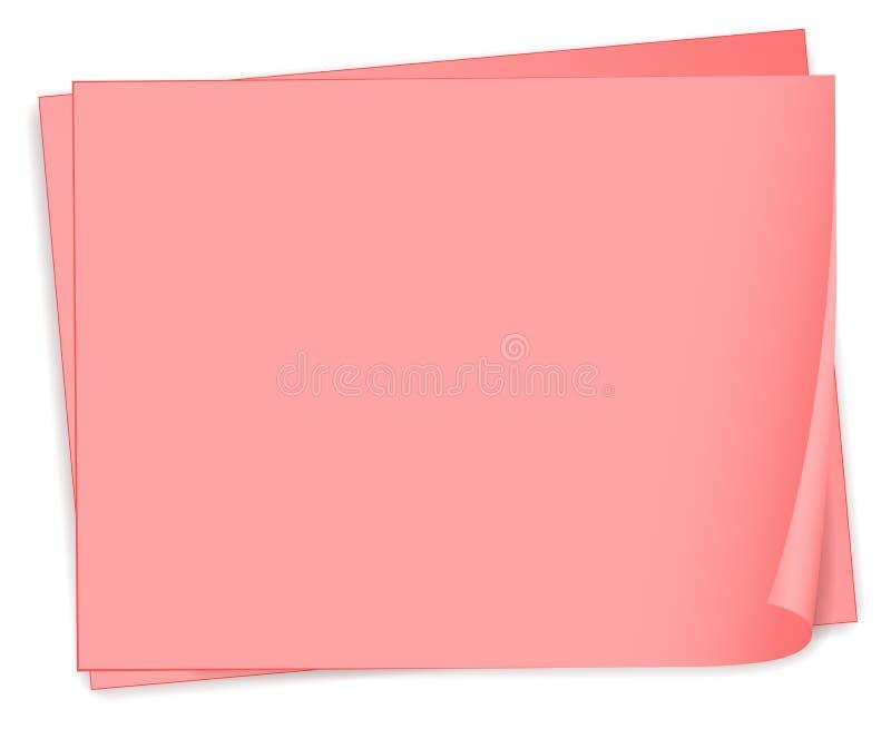 Lege roze bondpapers vector illustratie