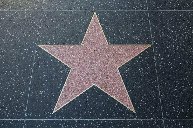 Lege Roze Terrazzo en Messingsster langs de Hollywood-Gang van Bekendheid royalty-vrije stock afbeeldingen