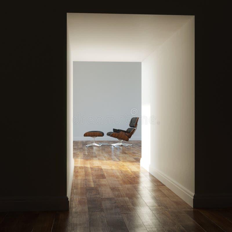 Lege ruimte in een moderne versie van de huisschaduw royalty-vrije stock foto's