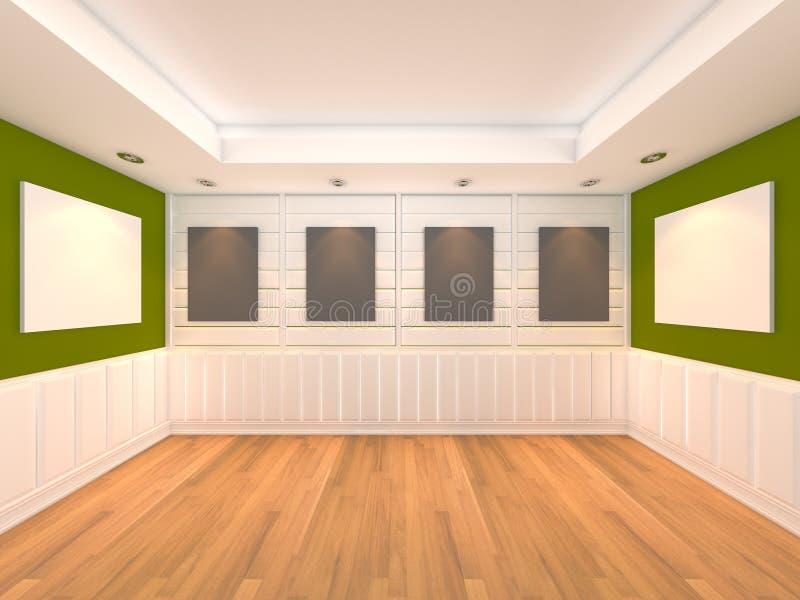Lege ruimte groen met frame album stock illustratie