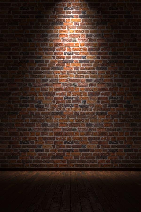 Lege ruimte met bakstenen muur royalty-vrije illustratie