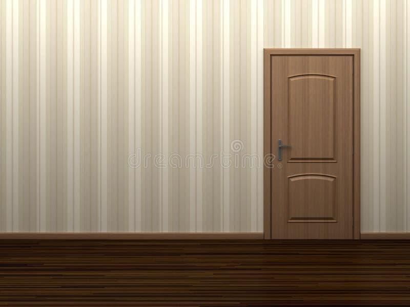 Lege ruimte met deur vector illustratie