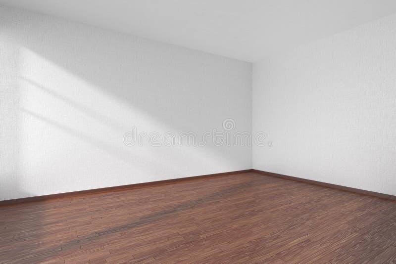 Lege ruimte met donkere parketvloer en geweven witte muren stock illustratie afbeelding 76546809 - Betegeld wit parket effect ...