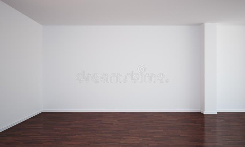 Lege ruimte met donkere vloer stock illustratie