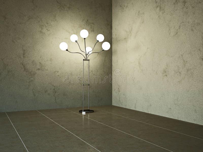 Download Lege ruimte met lamp stock illustratie. Illustratie bestaande uit verbetering - 29509156