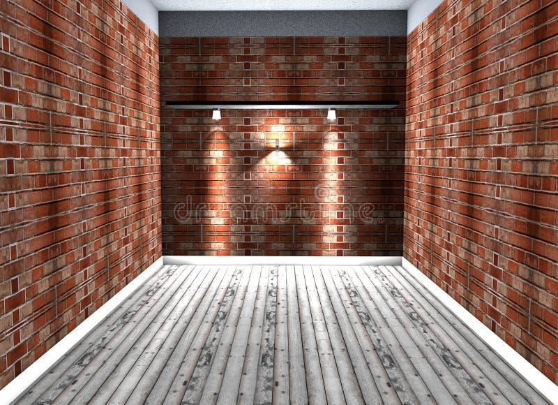 Lege ruimte met lampen royalty-vrije illustratie