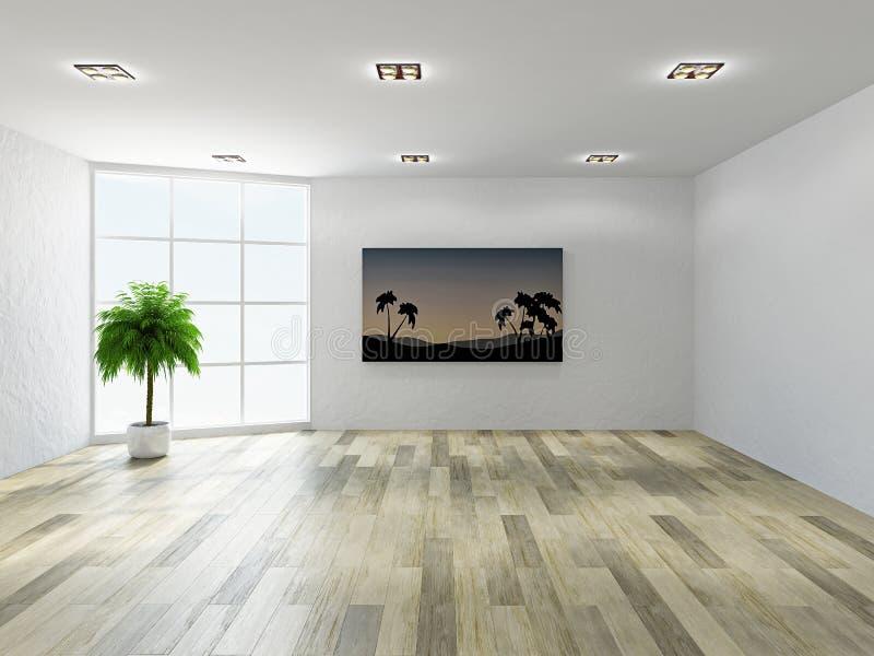 Lege ruimte met vensters vector illustratie