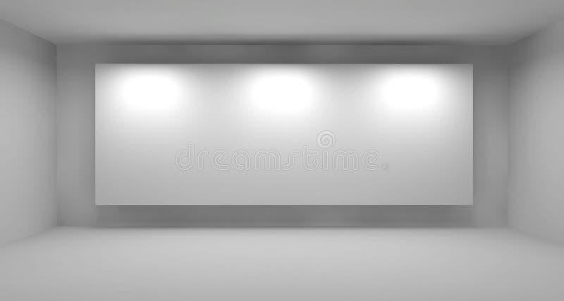 Lege ruimte met wit frame, art. royalty-vrije illustratie