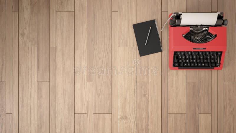 Lege ruimte, zolder, zolder, parket houten vloer en houten plafond royalty-vrije stock afbeeldingen
