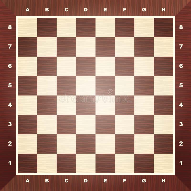 Lege schaakraad vector illustratie