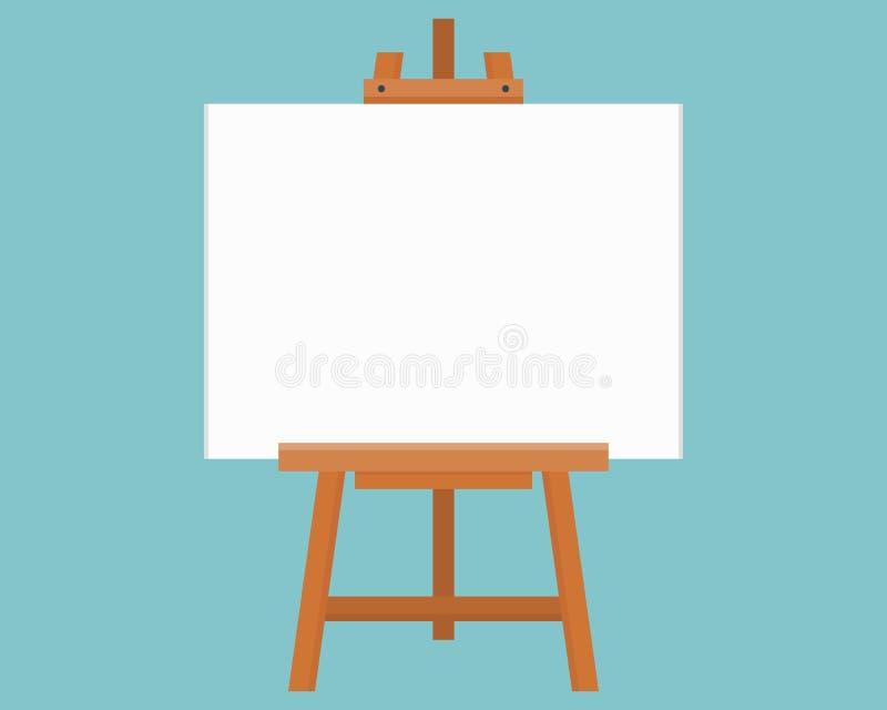 Lege schilderende raad of canvasraad, houten schildersezel, kunstraad royalty-vrije illustratie