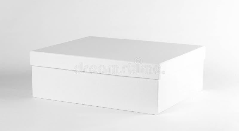 Lege schone doos Schoendoos Sluit omhoog Geïsoleerd op witte backgroun royalty-vrije stock foto's