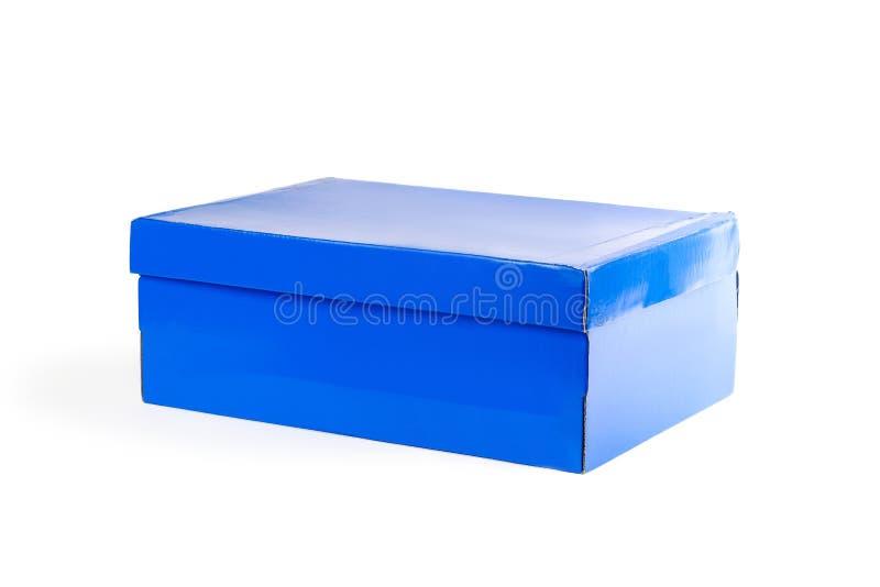 Lege schone doos Schoendoos Sluit omhoog Geïsoleerd op witte backgroun stock fotografie