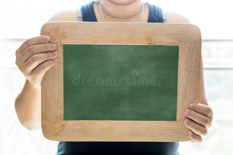Lege schoolbordachtergrond/Spatie Vuile geweven Verticale Achtergrond royalty-vrije stock foto's