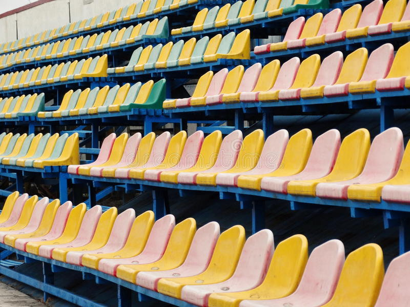 Lege sectie van het stadion royalty-vrije stock afbeelding