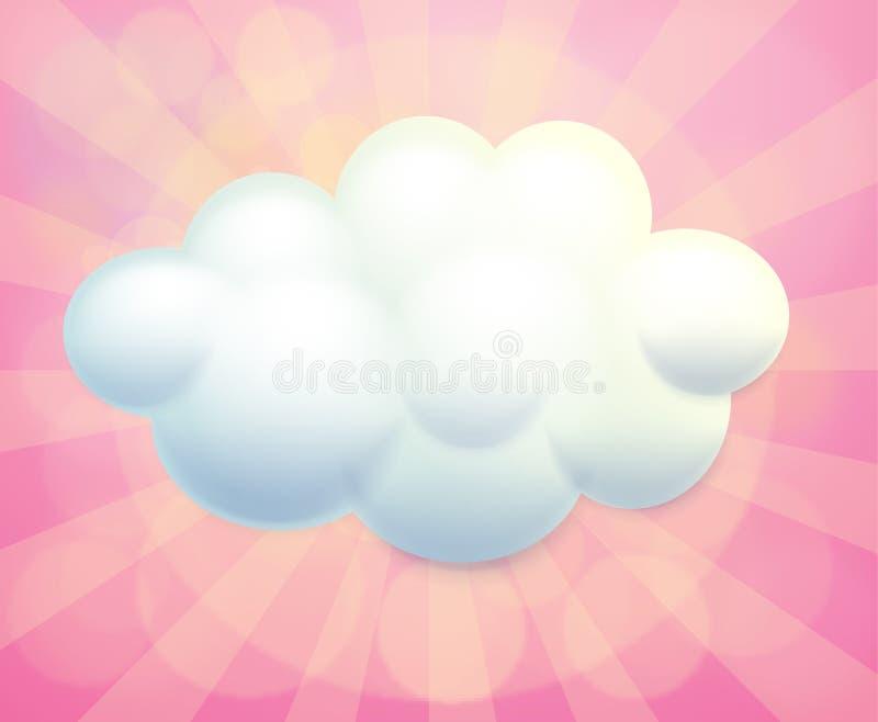 Lege signage in een wolkenvorm royalty-vrije illustratie