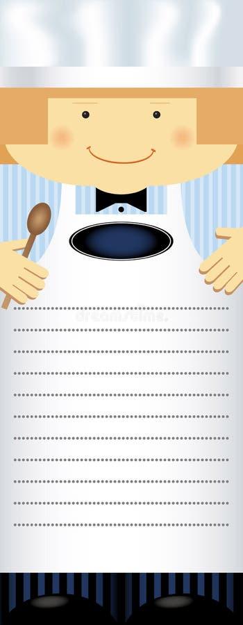 Lege spatie van menu vector illustratie