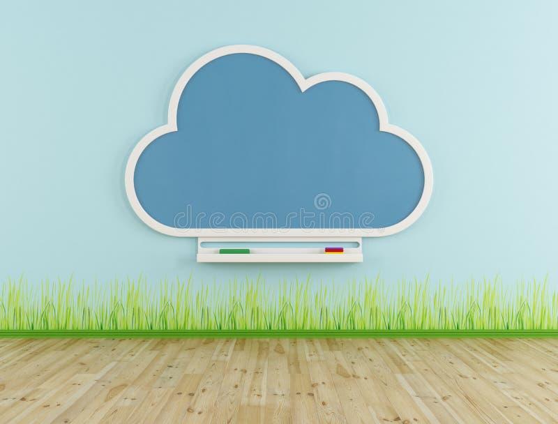 Lege speelkamer met wolkenbord stock illustratie