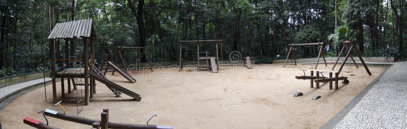 Lege speelplaats Parque Trianon royalty-vrije stock afbeelding