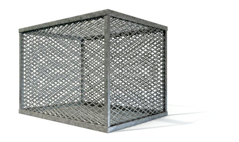 Lege Staalkooi stock afbeelding