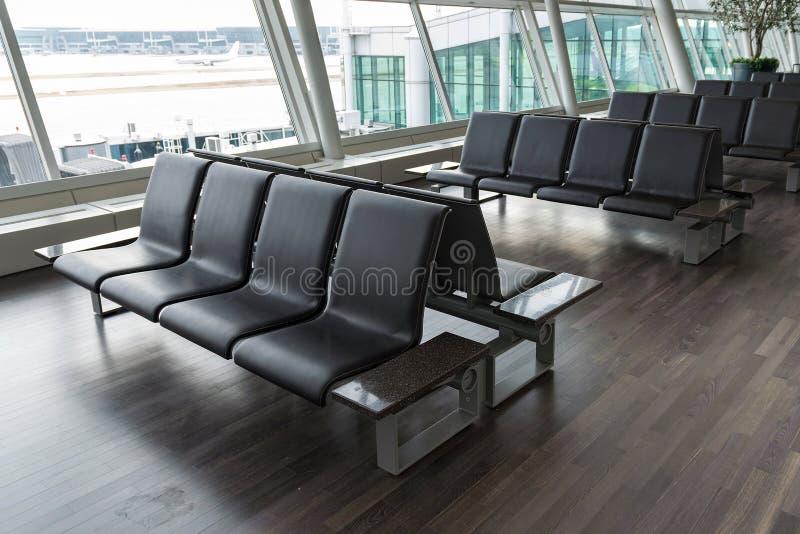 Lege stoel voor passagiers stock foto's