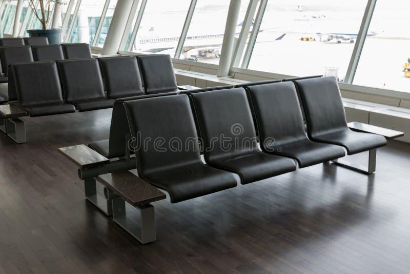 Lege stoel voor passagiers stock fotografie