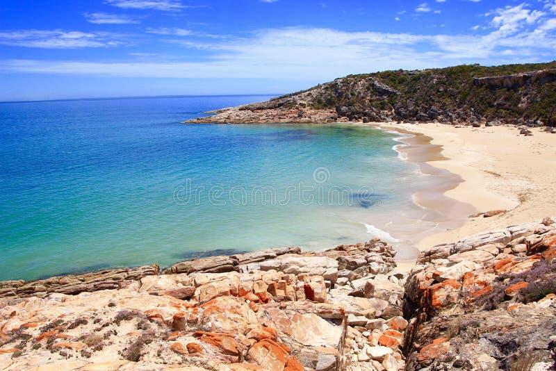 Lege stranden stock afbeelding