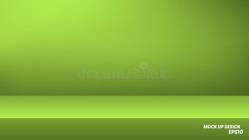 Lege studiospot als achtergrond omhoog voor productvertoning vector illustratie