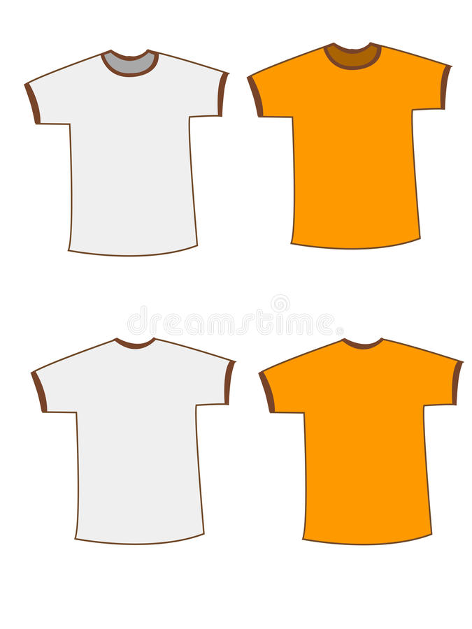 Lege t-shirt vector illustratie