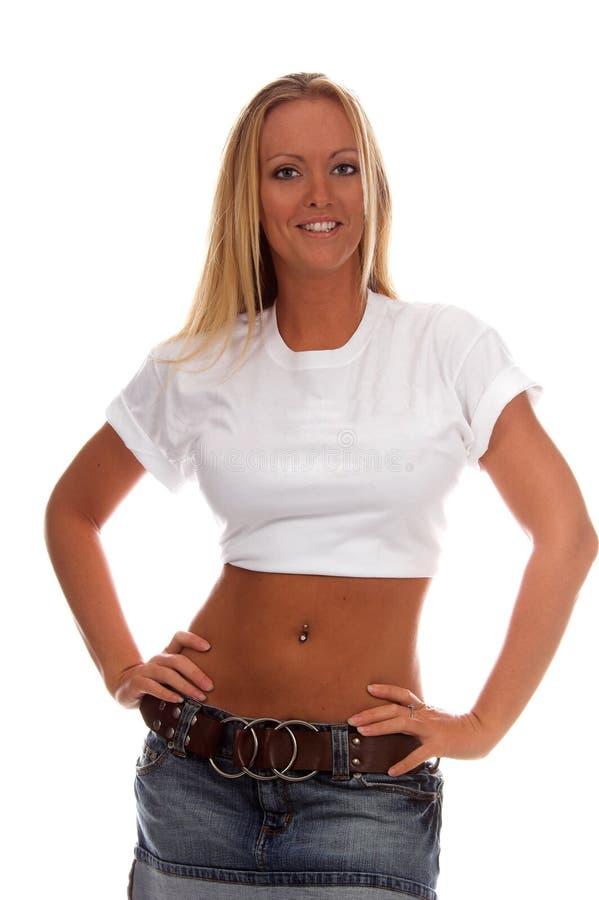 Lege T-shirt royalty-vrije stock afbeeldingen