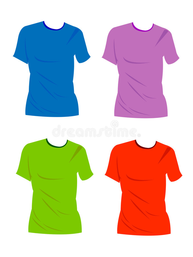 Lege t-shirts vector illustratie