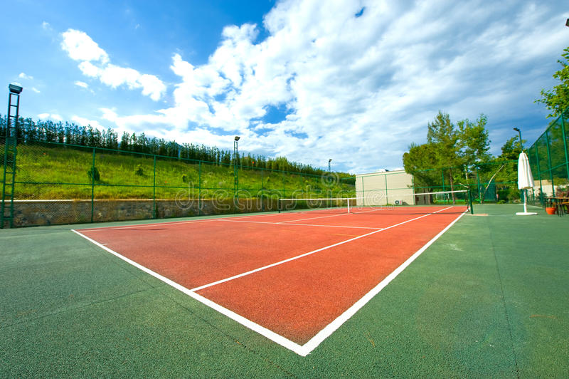 Lege tennisbaan stock foto's