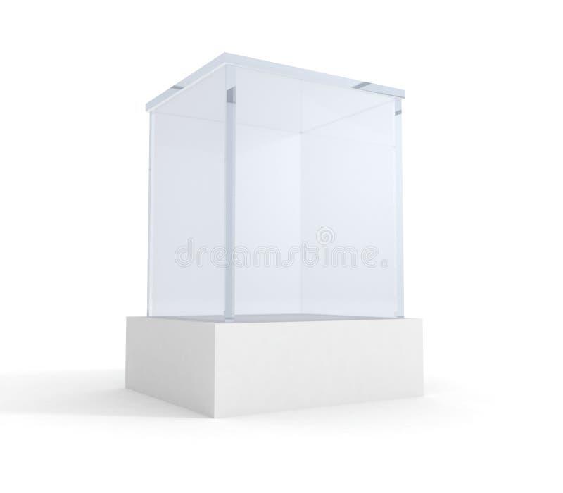 Lege tentoonstelling of museumglastribune vector illustratie