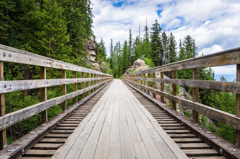 Lege Testle-Brug langs een Bergweg royalty-vrije stock afbeelding
