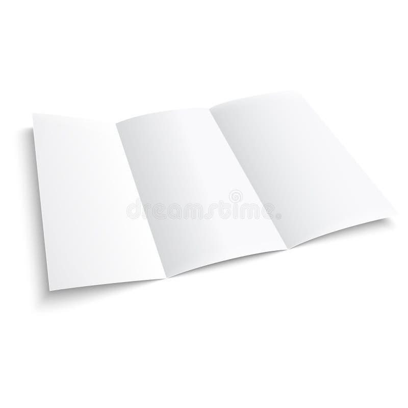Lege trifolddocument brochure. royalty-vrije illustratie