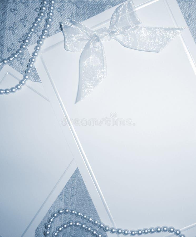 Lege uitnodiging - Blauwe toon stock afbeelding