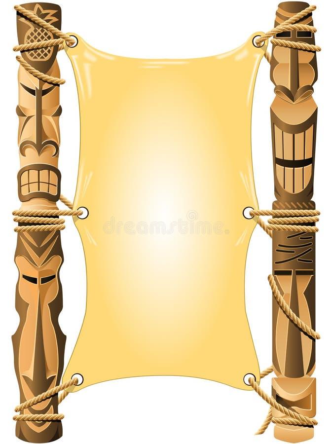 Lege uitnodiging in de stijl van Hawaï royalty-vrije illustratie