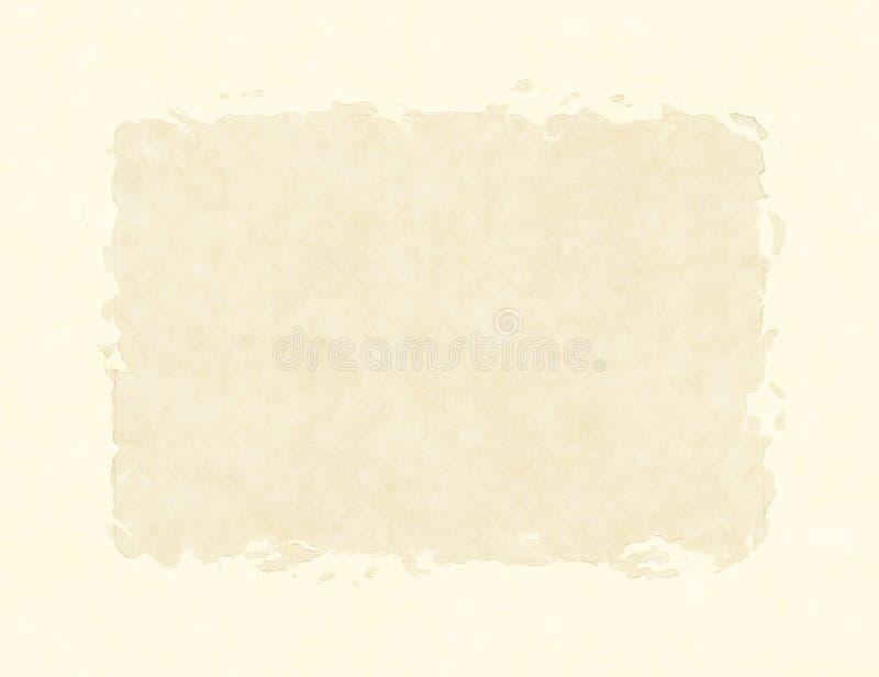 Lege Uitstekende Document Textuur met dik Kader stock illustratie