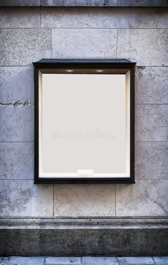 Lege venstervertoning stock afbeeldingen